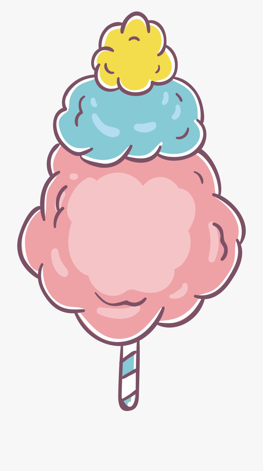 Cotton Candy Lollipop Zefir Sugar.