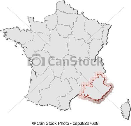 Vector Illustration of Map.