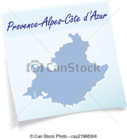 Vector Clipart of Map of Provence.