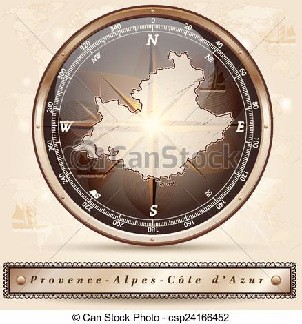 Clipart Vector of Map of Provence.