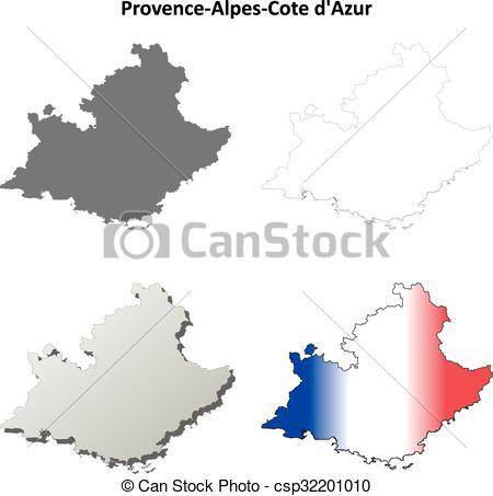 Vector Clip Art of Provence.