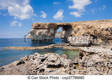 Pictures of Azure Window on the island Gozo.