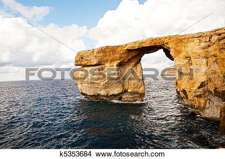 Stock Photo of Natural rock arch Azure Window, Gozo k5353684.