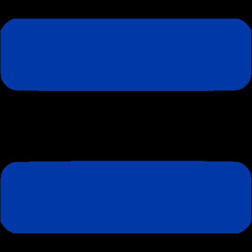 Royal azure blue equal sign 2 icon.