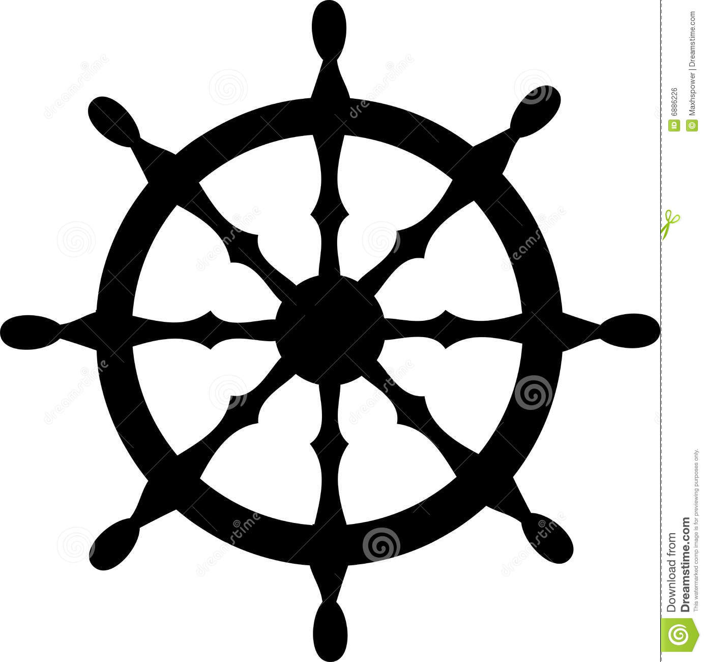 Boat Steering Wheel Clipart.