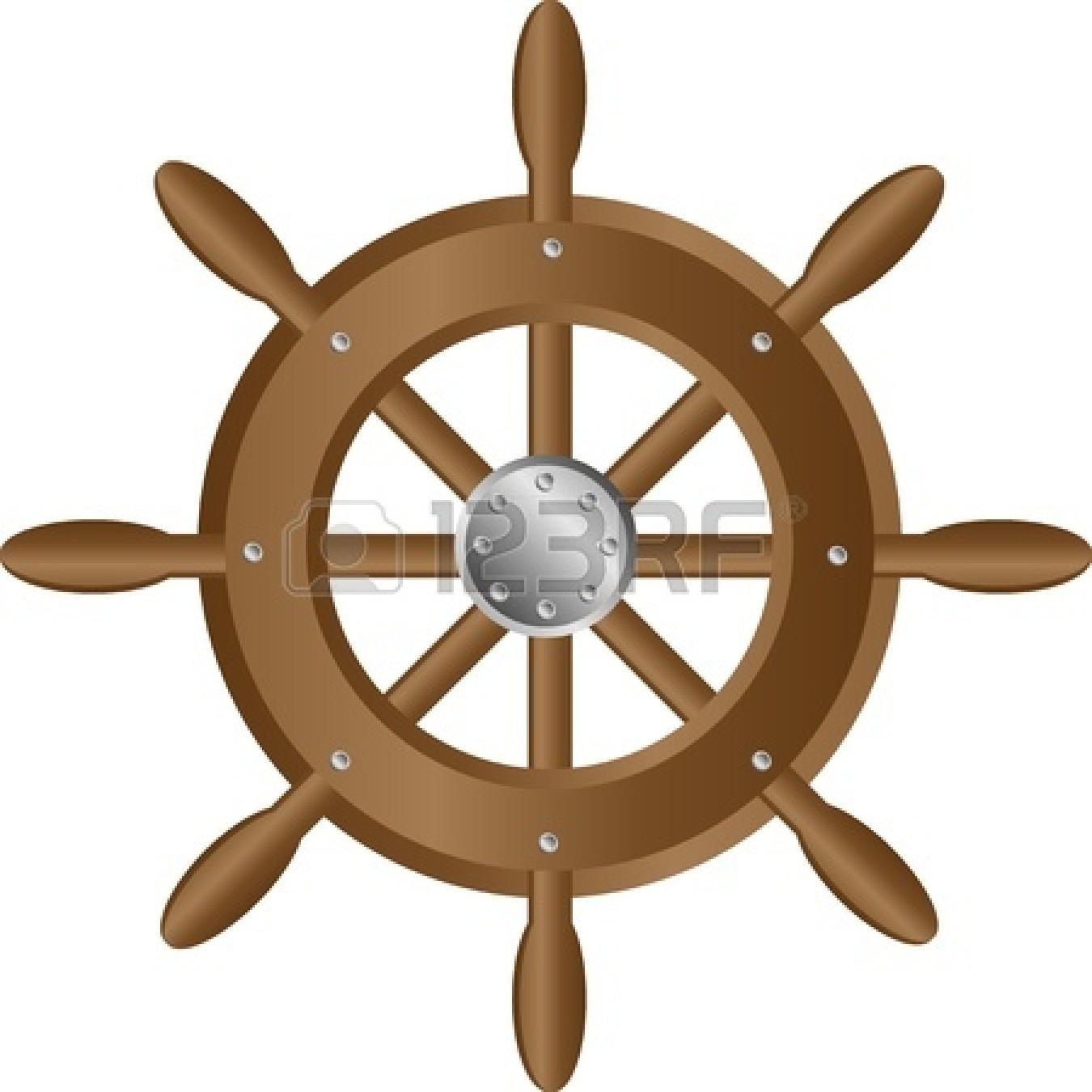 Boat Steering Wheel Clipart.