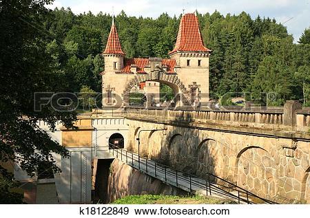 Stock Photograph of Dam Les Kralovstvi in Bila Tremesna k18122849.