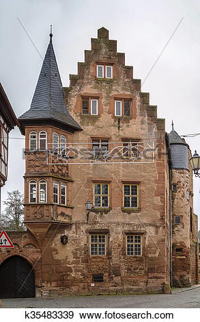 Stock Photograph of Historic house in Budingen, Germany k35483339.
