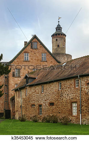 Stock Image of Castle in Budingen, Germany k35453045.