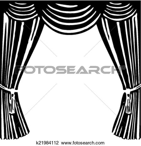 Clipart of Theater curtain k21984112.