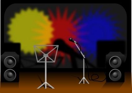 Musik Bühne ClipArt cliparts, kostenlose clipart.