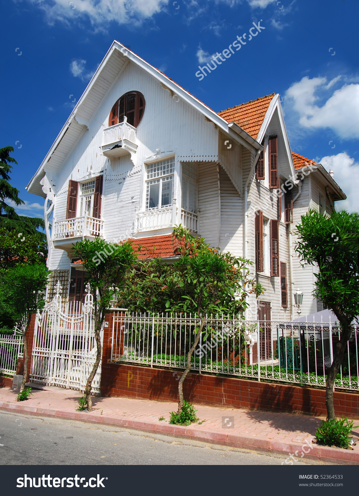 Victorian Style House In Istanbul (Buyukada) Stock Photo 52364533.