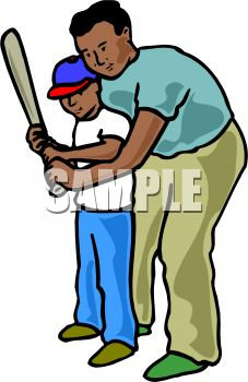 Black Father And Son Clipart.