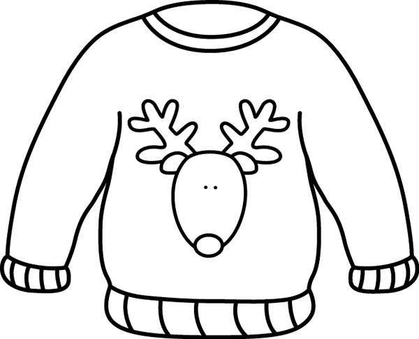 Free Sweater Clipart Black And White, Download Free Clip Art.