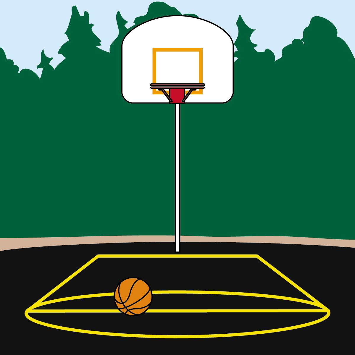 Best Basketball Court Clipart #5113.