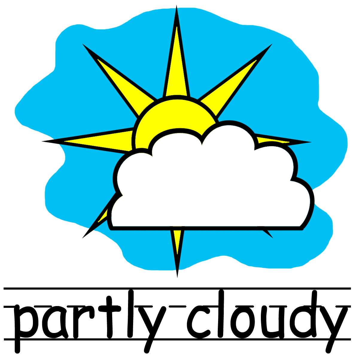 Best Partly Cloudy Clipart #10538.