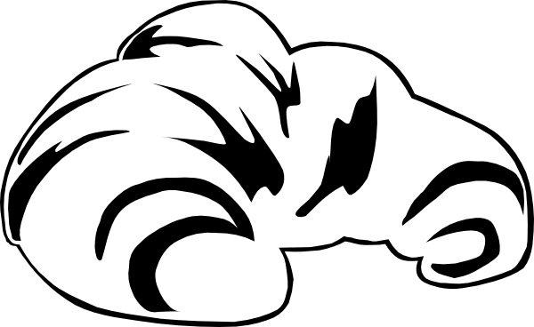 Croissant (b & W) clip art Free vector in Open office drawing svg.