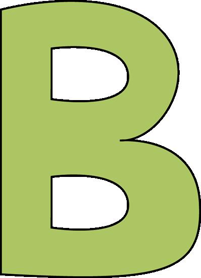 Letter b clip art.