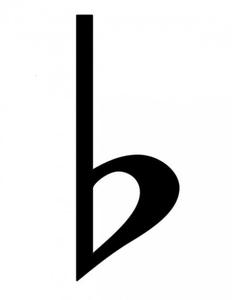 B Flat Symbol.