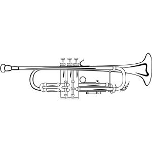 trumpet b flat ganson clipart, cliparts of trumpet b flat ganson.