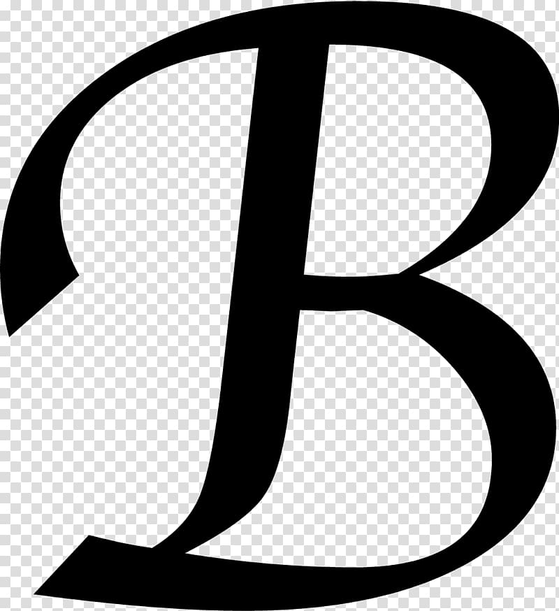 Letter B Initial Monogram , others transparent background.