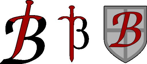 B Logos Clipart.