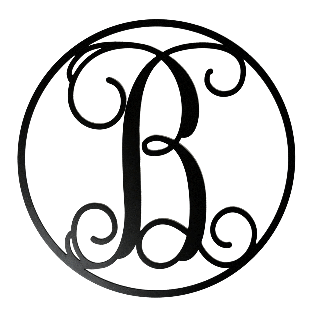 B clipart circle monogram, B circle monogram Transparent.