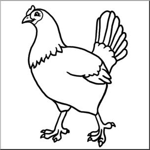 Clip Art: Hen B&W I abcteach.com.