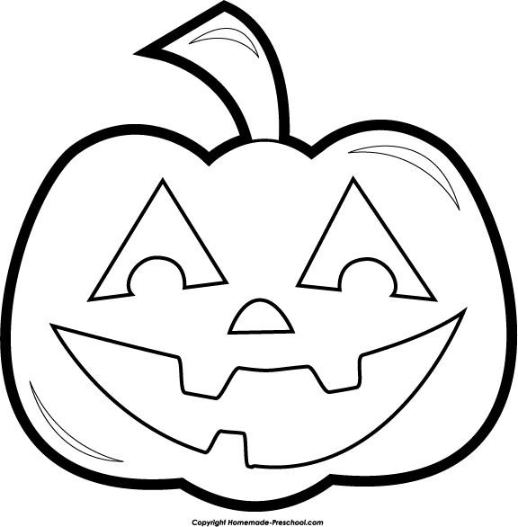 Black And White Preschool Clipart.