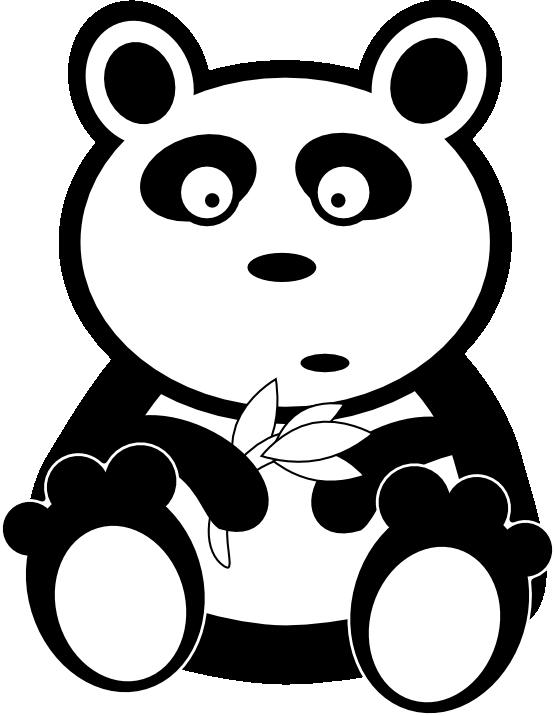 Clipart panda zebra clip art black and white.