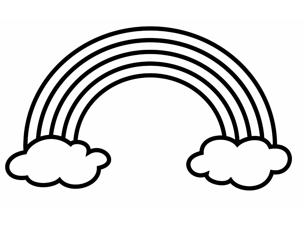 Free Black And White Rainbow Clipart, Download Free Clip Art.
