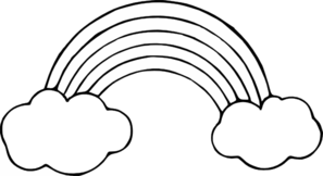 Clipart Rainbow Black And White.