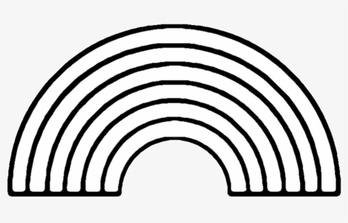 Free Rainbow Black And White Clip Art with No Background.