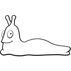Slug Smiling (Black and White.