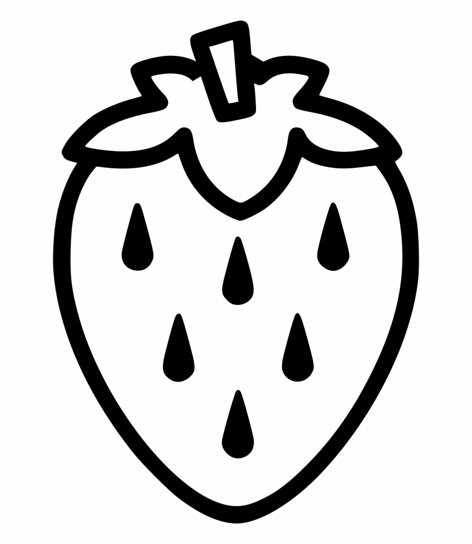 Free Strawberry Black And White, Download Free Clip Art.