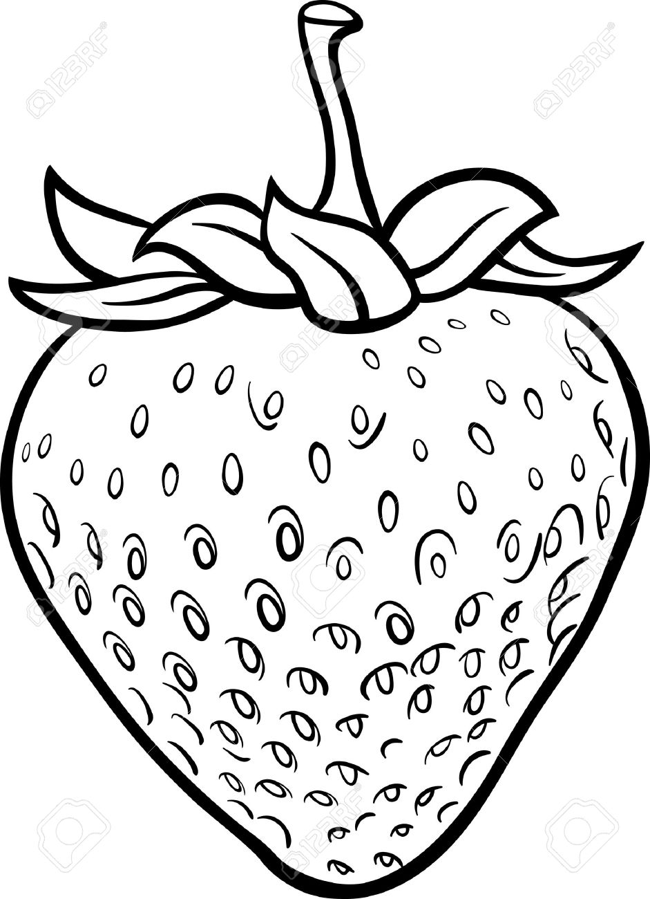 Strawberry black and white clipart 4 » Clipart Station.