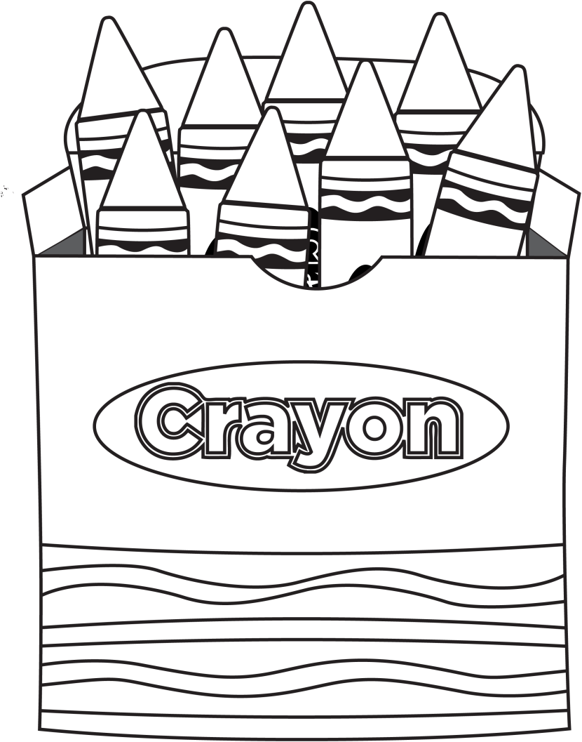 Free Crayon Clipart Black And White, Download Free Clip Art.