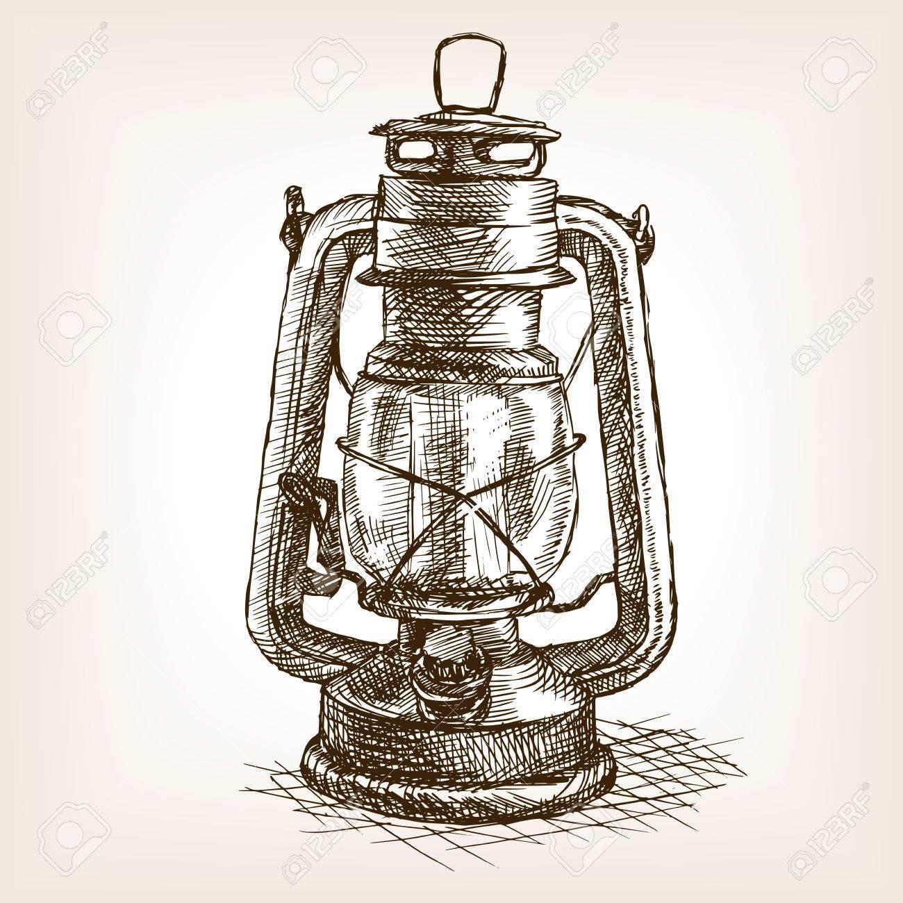 Vintage Lantern Clipart.