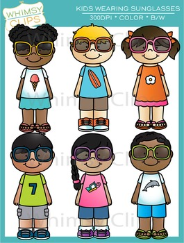 Kids Wearing Sunglasses Clip Art.