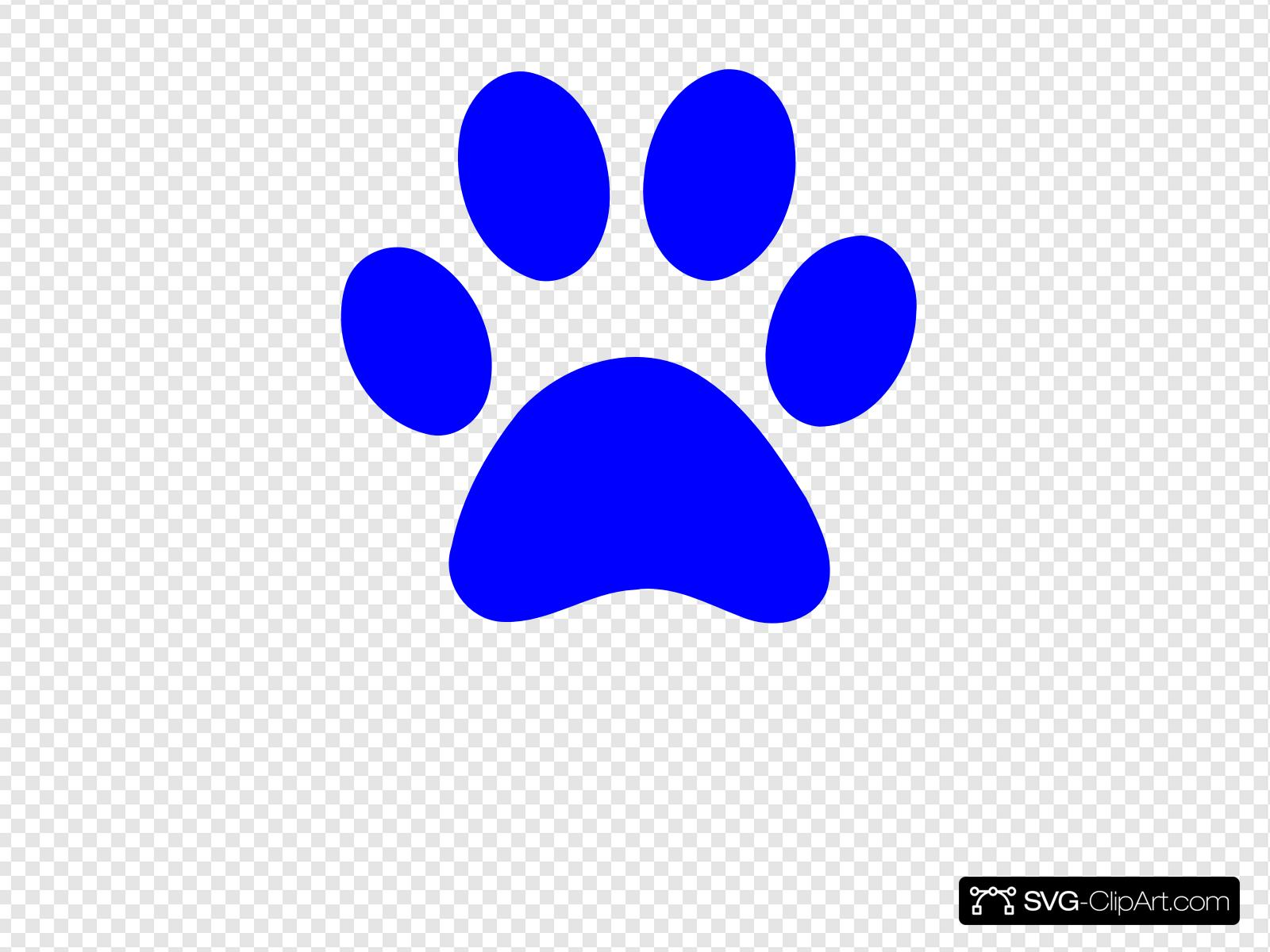 Panther Paw Print Clip art, Icon and SVG.