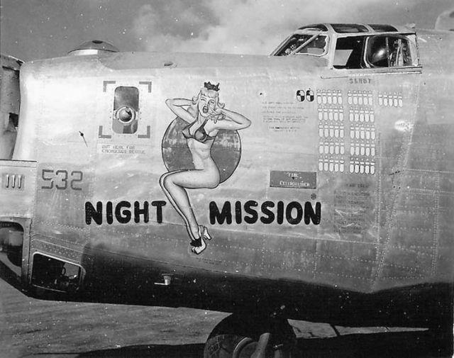 Airplane nose art, bomber nose art, WWII nose art, nose art.