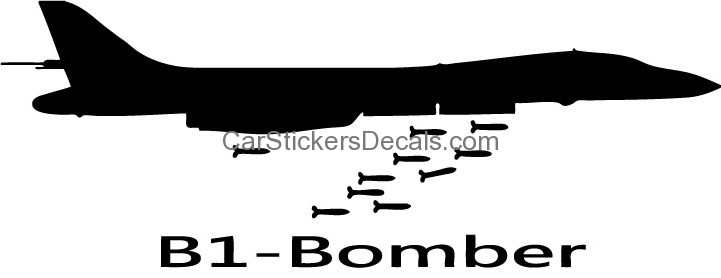 B1, Bomber Sticker & Decal.