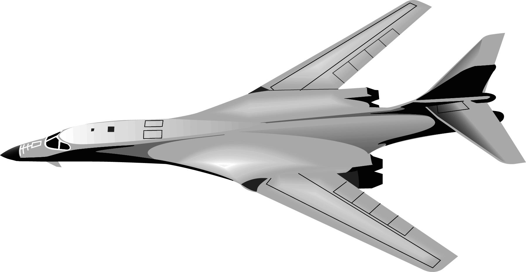 B 1 bomber clip art.