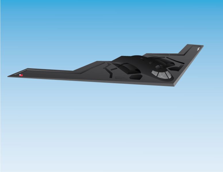 Bomber B2 Clipart Graphic.