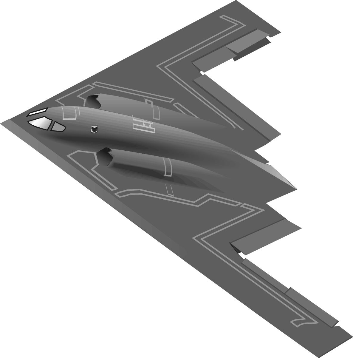B2 Bomber Clip Art.