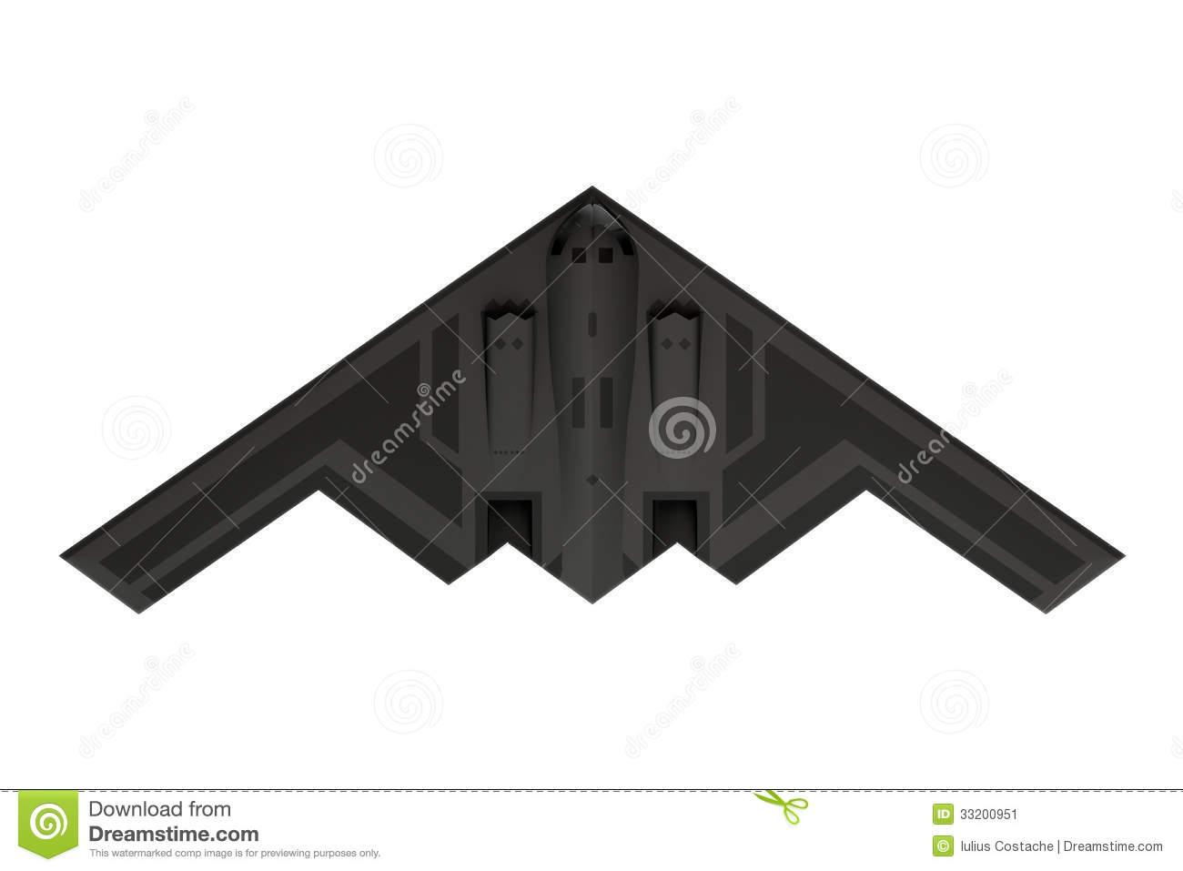B2 bomber clipart.