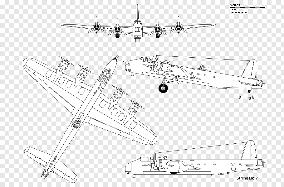 Consolidated B24 Liberator cutout PNG & clipart images.