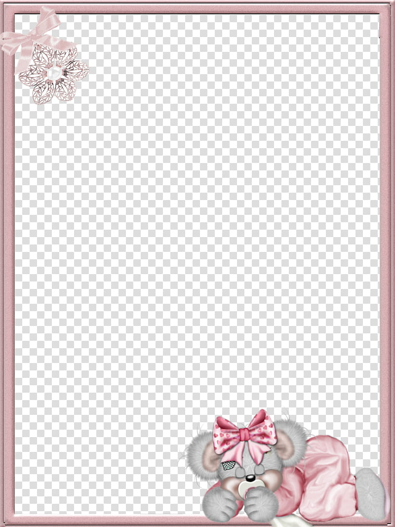 Ba, pink floral frame illustration transparent background.