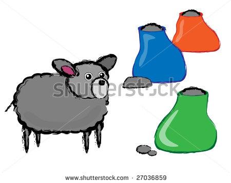 Baa Baa Black Sheep Clipart.
