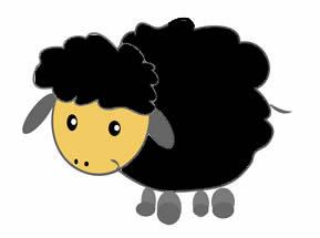 Black Sheep Clipart.